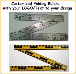 Custom Folding Rulers