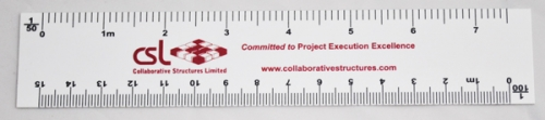 Customized White PVC Architect Rulers