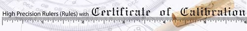Calibrated Certified Rulers Traceable to NIST