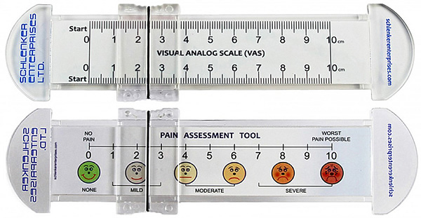 Vas pain scale rulers 0 10 cm w slider personalized for Vas scale pain