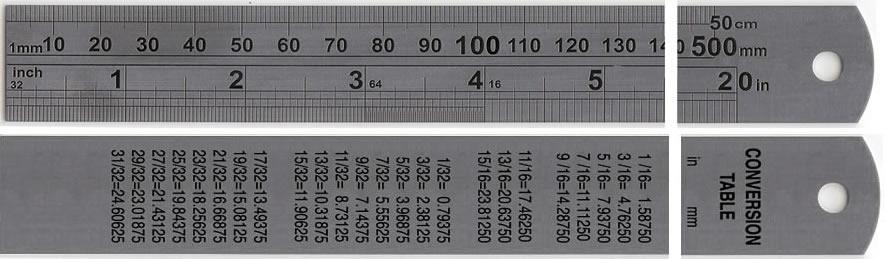 20 500 Mm Heavy Duty Hardened Stainless Steel Ruler