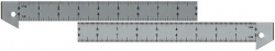 "9"" Aluminum Hook Rulers"