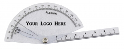 Customized 13 cm Goniometer with LOGO/Text in Black/Color