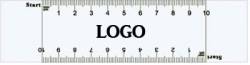 Customized White PVC or Clear PVC VAS Rulers w/Double Edge Scale of 0-10
