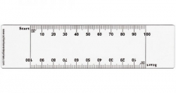 Clear PVC VAS Rulers w/ Double Edge Scale of 0-100