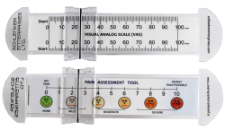 Customized Pain Scale Rulers 0-100mm w/Slider